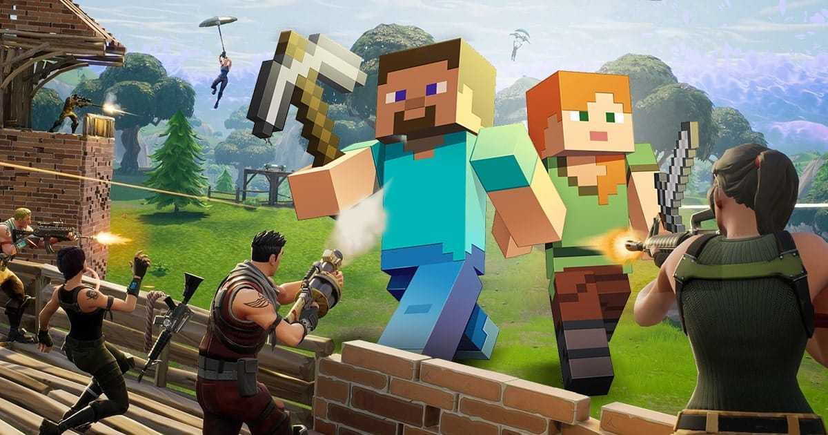 Minecraft in Fortnite: How Minecraft looks like