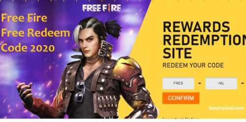 Free Fire Redeem Codes January 2020