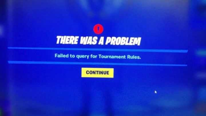 Failed to query for tournament rules
