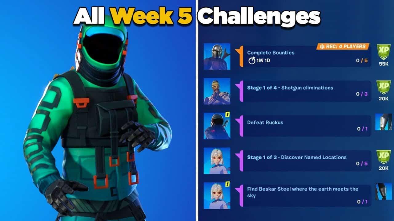 Fortnite Season 5 Week 5 Challenges