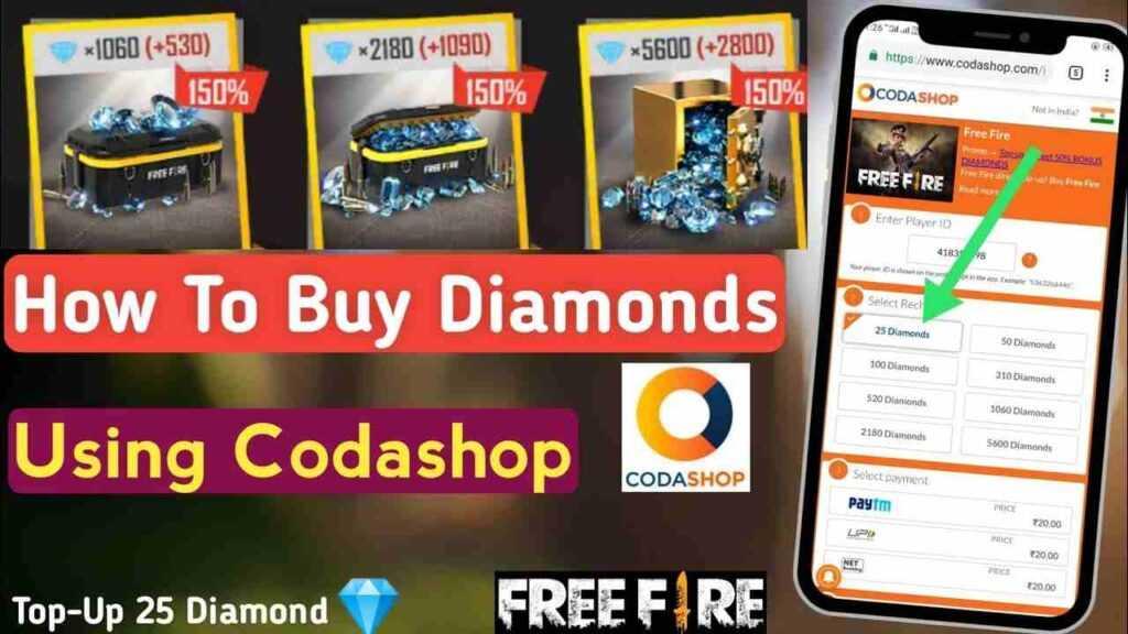 Top-Up Diamonds on Codashop