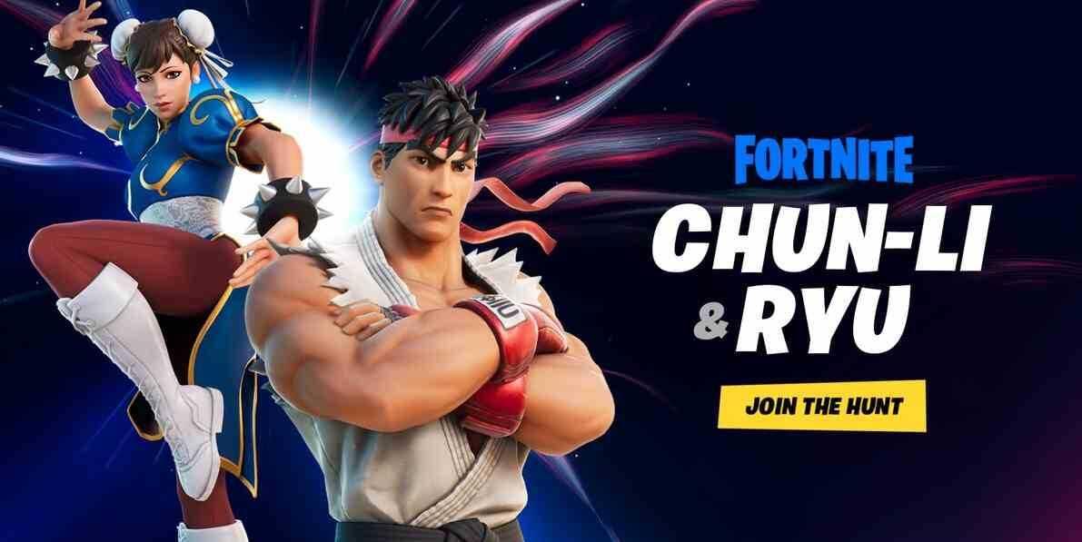 Chun-Li and Ryu are joining Fortnite