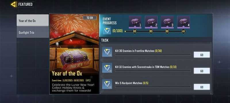 Year of the Ox event