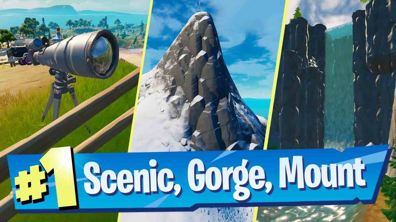 Fortnite Locations: Scenic Spot, Gorgeous Gorge, & Mt. Kay