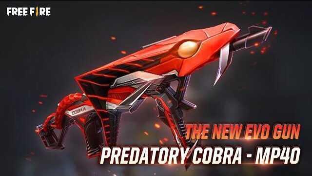 MP40 Predatory Cobra in Free Fire