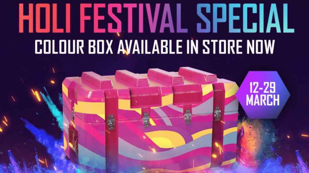 Free Fire Holi Event New colour box crate