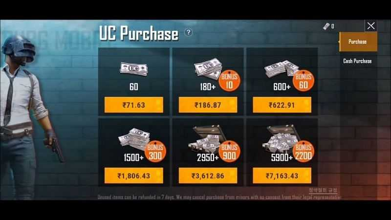 Buy UC in PUBG KR