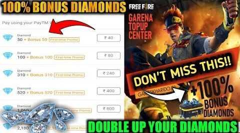 Bonus Diamonds Free Fire