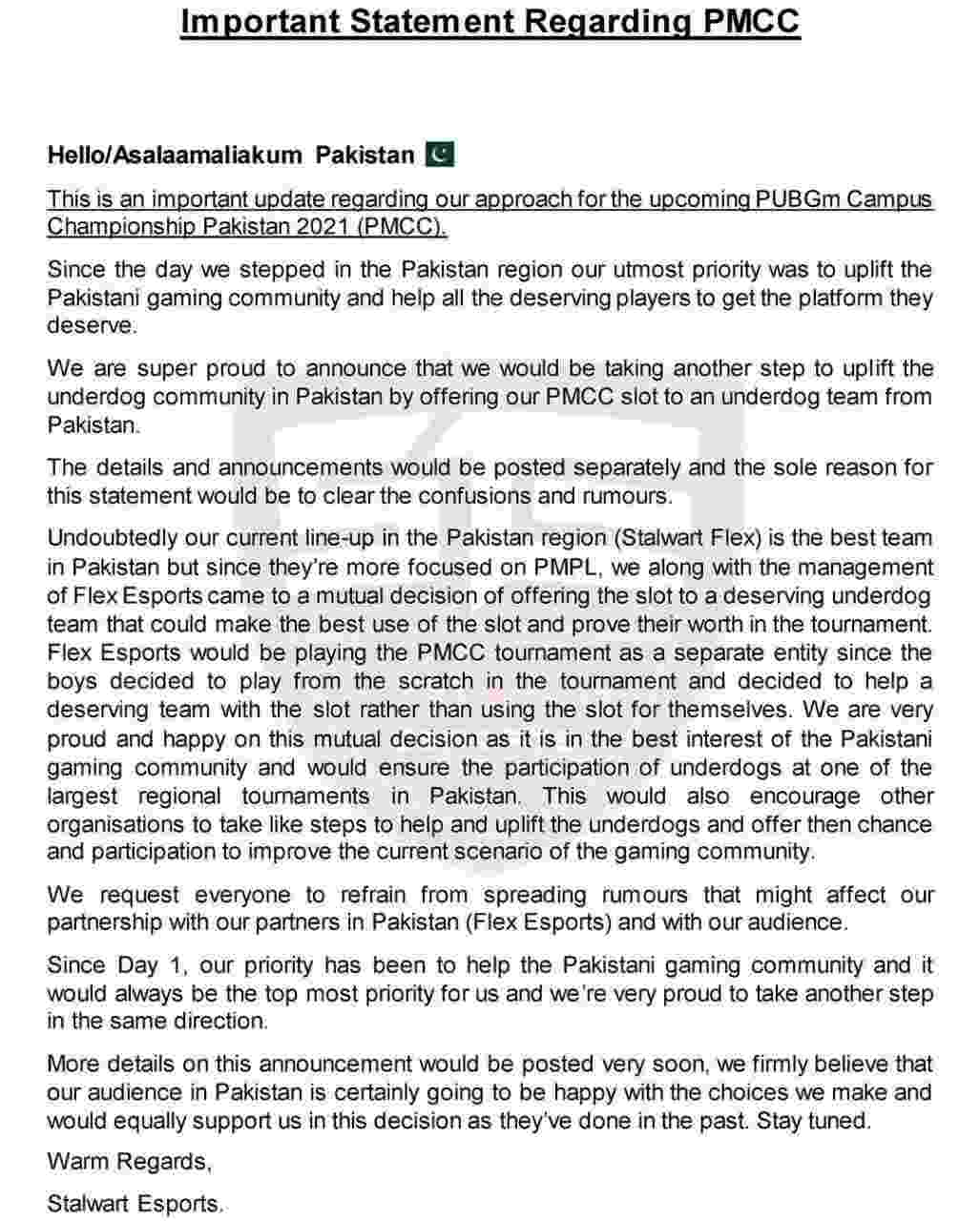 PMCC Pakistan