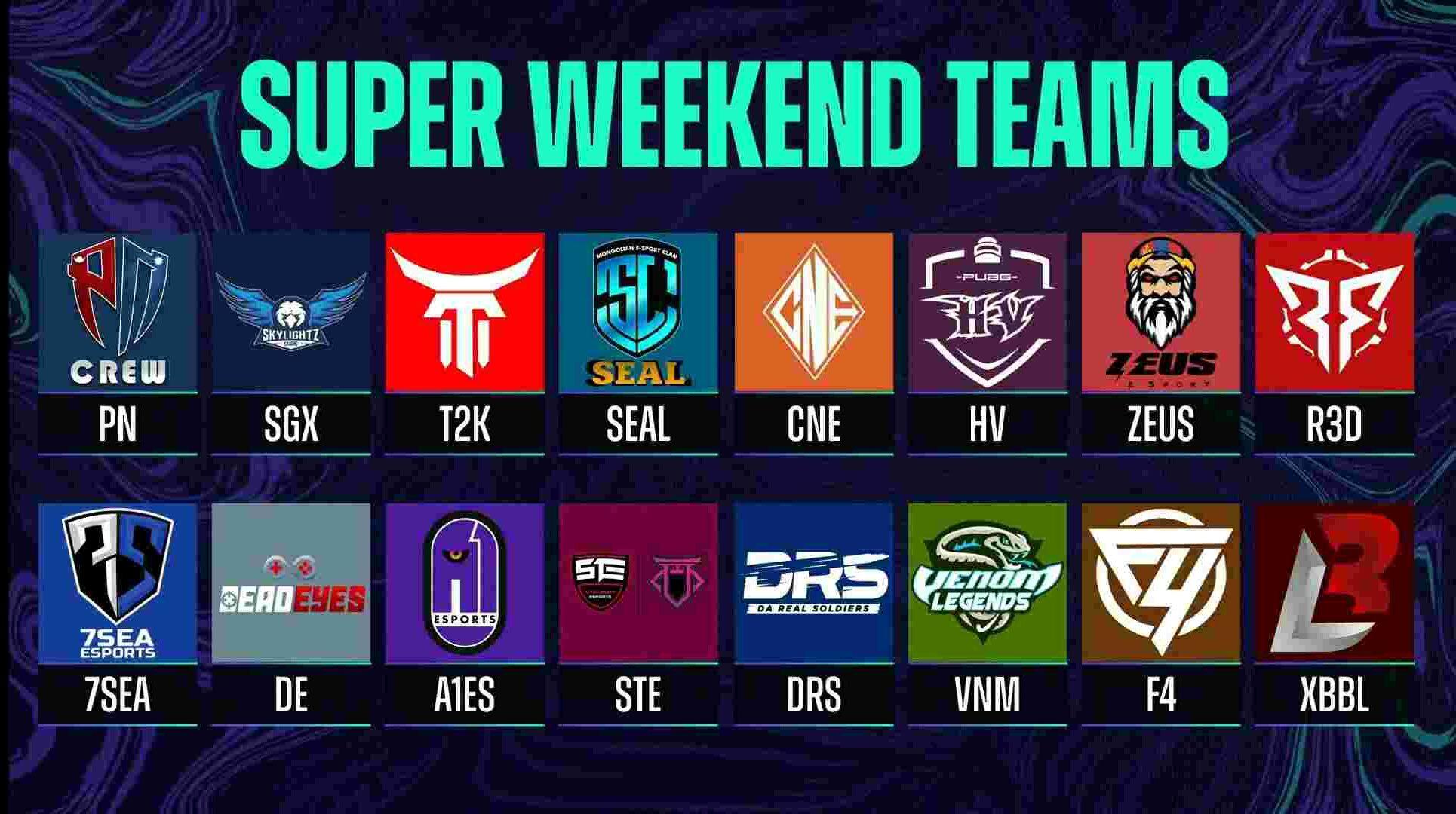 Super Weekend Teams