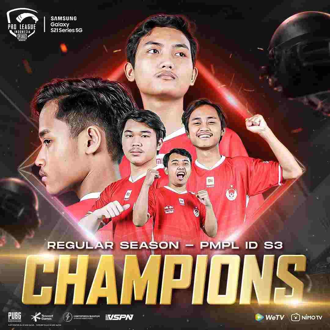 Winner of PMPL Indonesia Season 3 League Stage