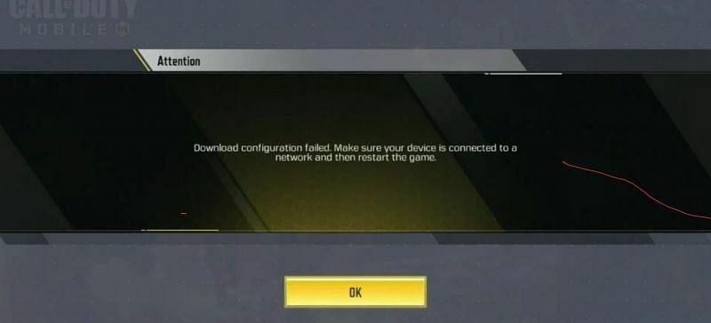 fix download configuration error failed cod mobile