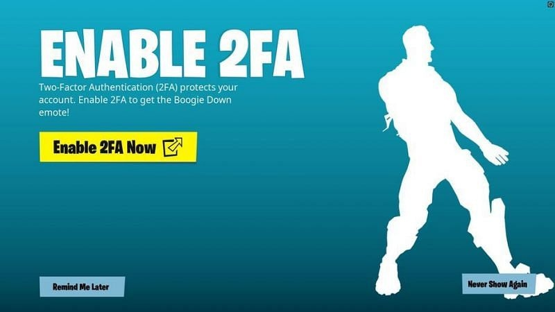 Fortnite 2FA