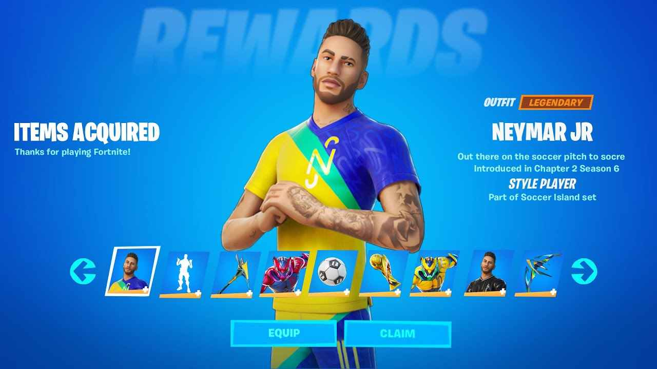 Fortnite Neymar Jr Challenges