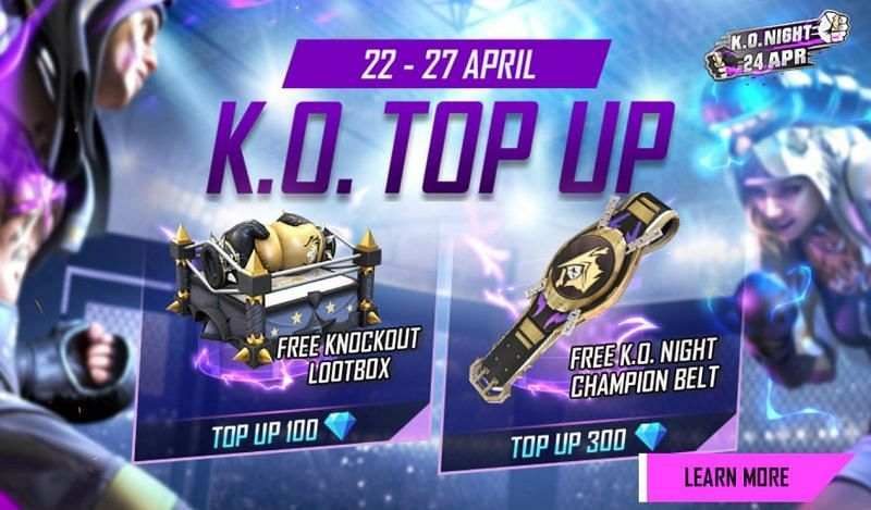 Free Fire KO Top Up Event