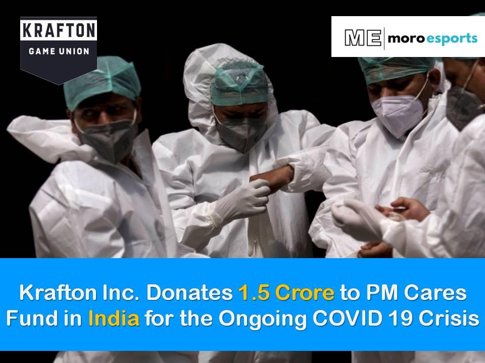 Krafton Donates INR 1.5 Crore to India