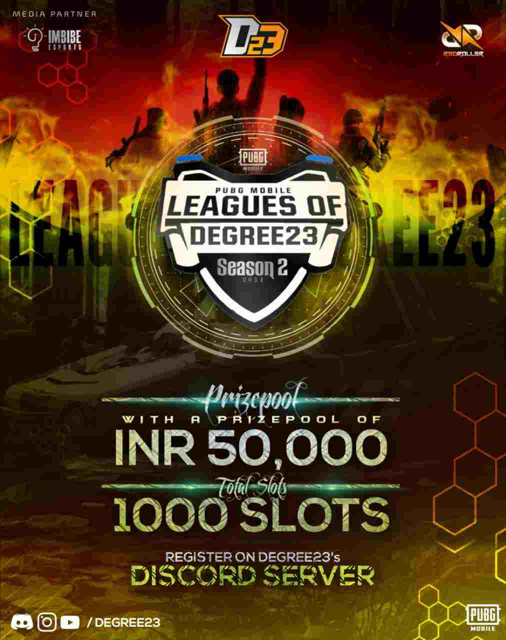 PUBG Mobile League Season 2 Organized by Degree23