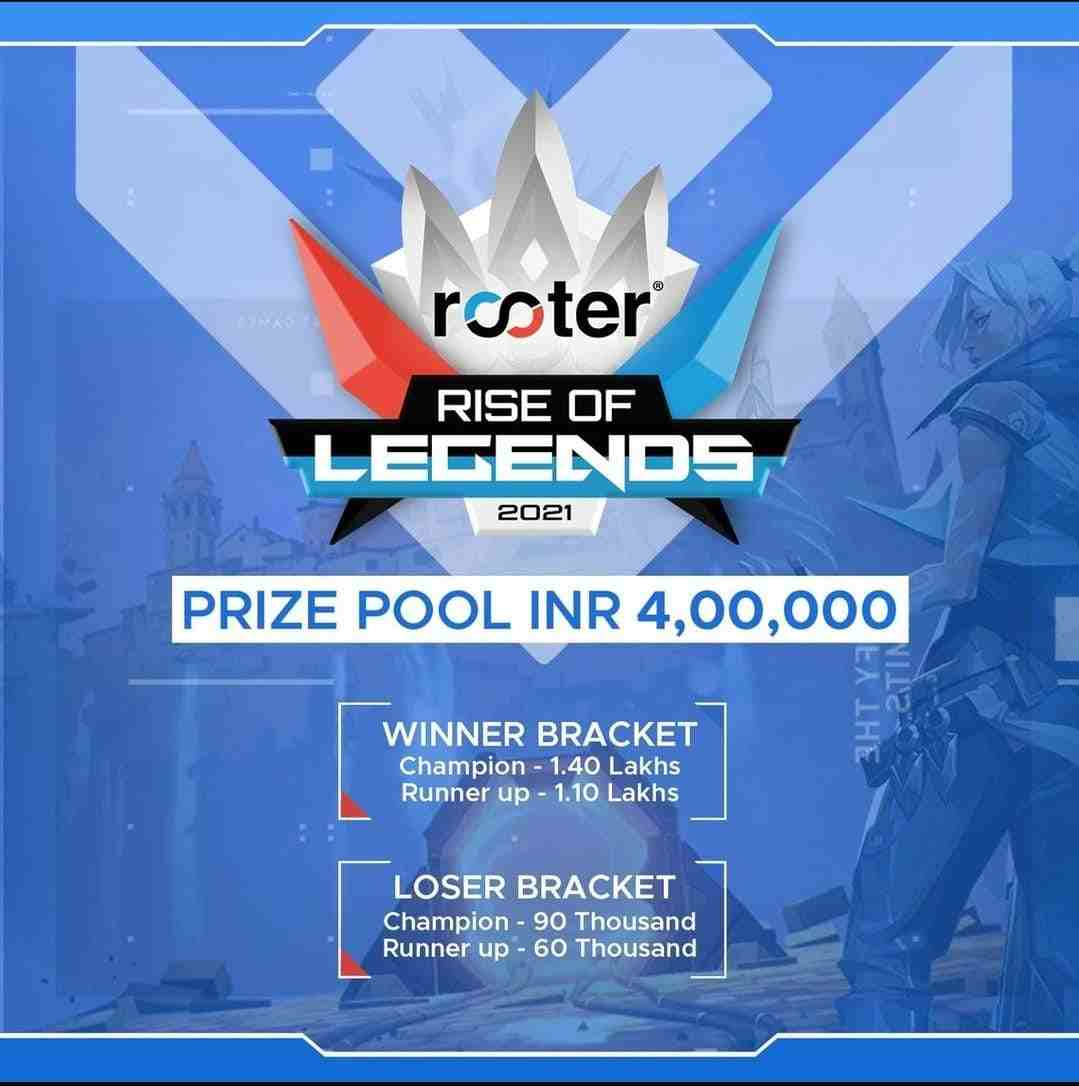 Rooter Rise of Legends 2021 Prize Pool