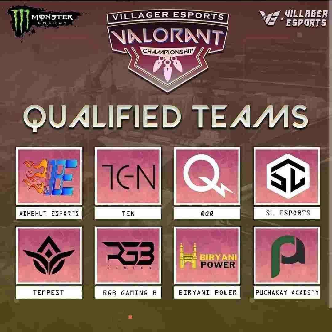 VE Valorant Championship Qualified Teams