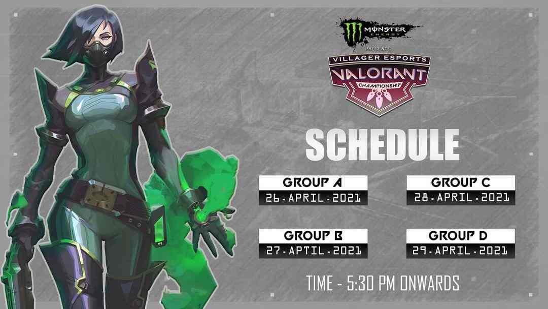 Villager Esports Valorant Championship Schedule