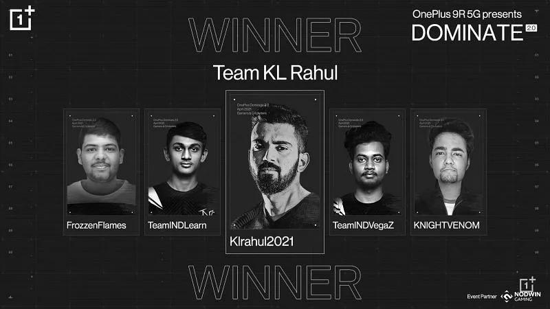 KL Rahul wins Dominate 2.0