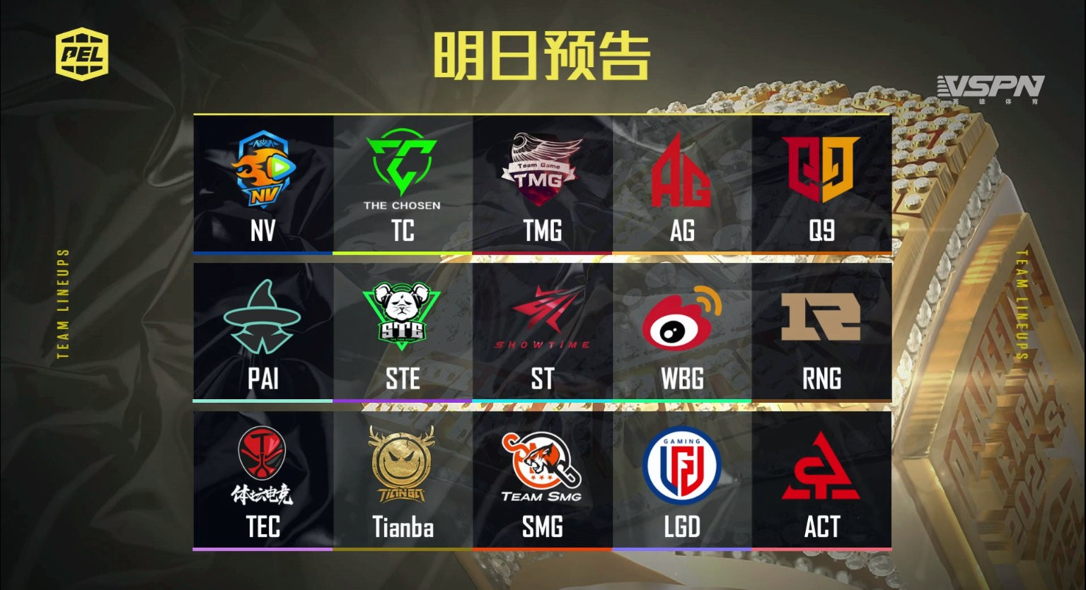 These are the teams who will be participating in the PEL 2021 Season 1: Week 5 Finals.
