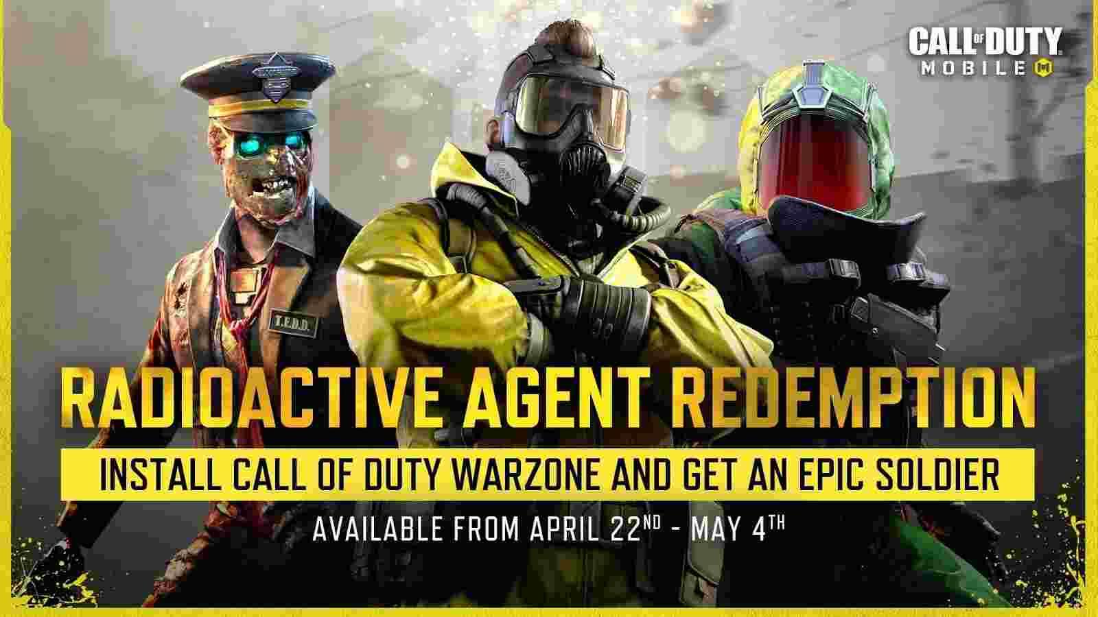 cod Radioactive Agent Redemption event
