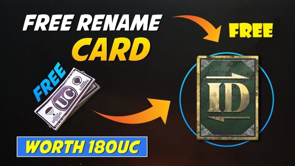 How to Get a Free Rename Card in PUBG Mobile?