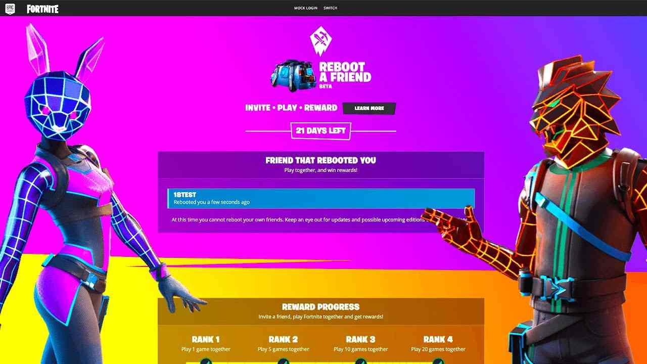 Fortnite Friend Rewards Fortnite Reboot A Friend Is Back With Free Rewards Moroesports