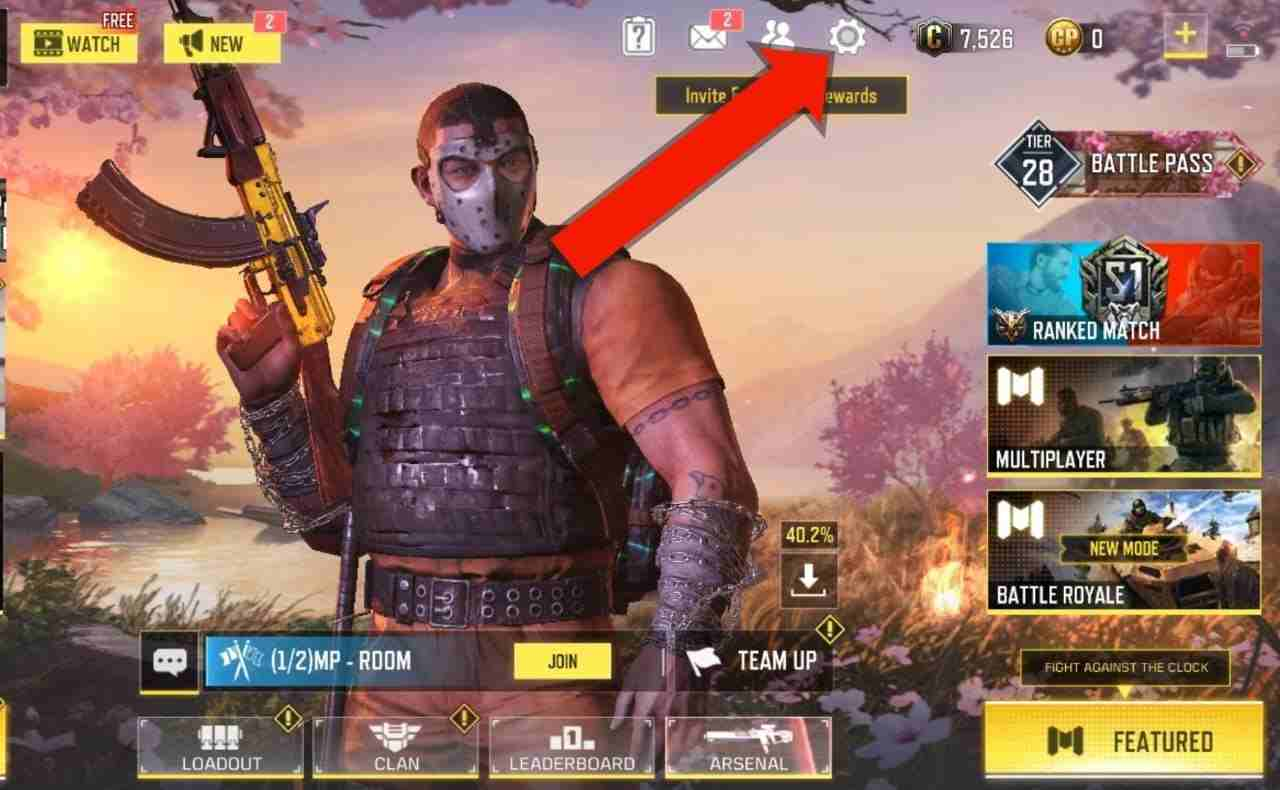 Steps to logout from cod mobile