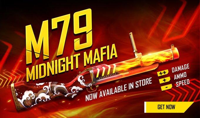 Midnight Mafia M79 Gun Skin in Free Fire