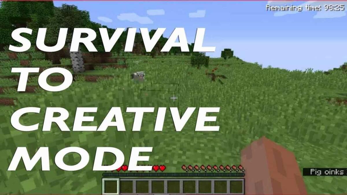 Survival to Creative Mode in Minecraft