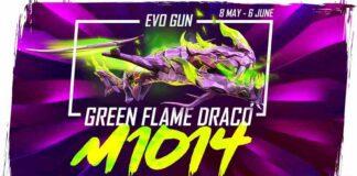 Green Flame Draco M1014 Skin in Free Fire
