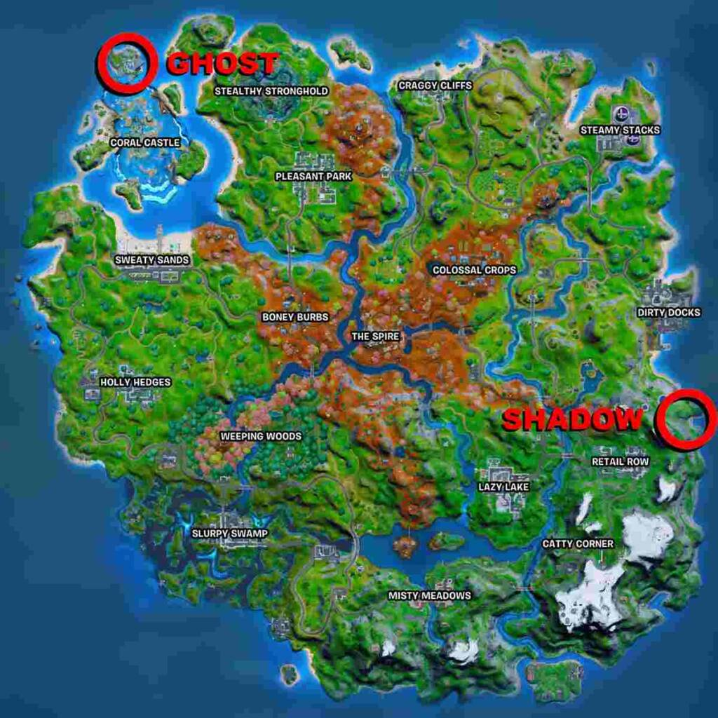 Visit Ghost and Shadow Ruins Location inFortnite