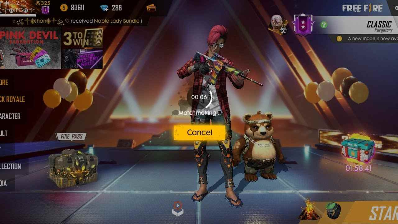 Free Fire Matchmaking issue