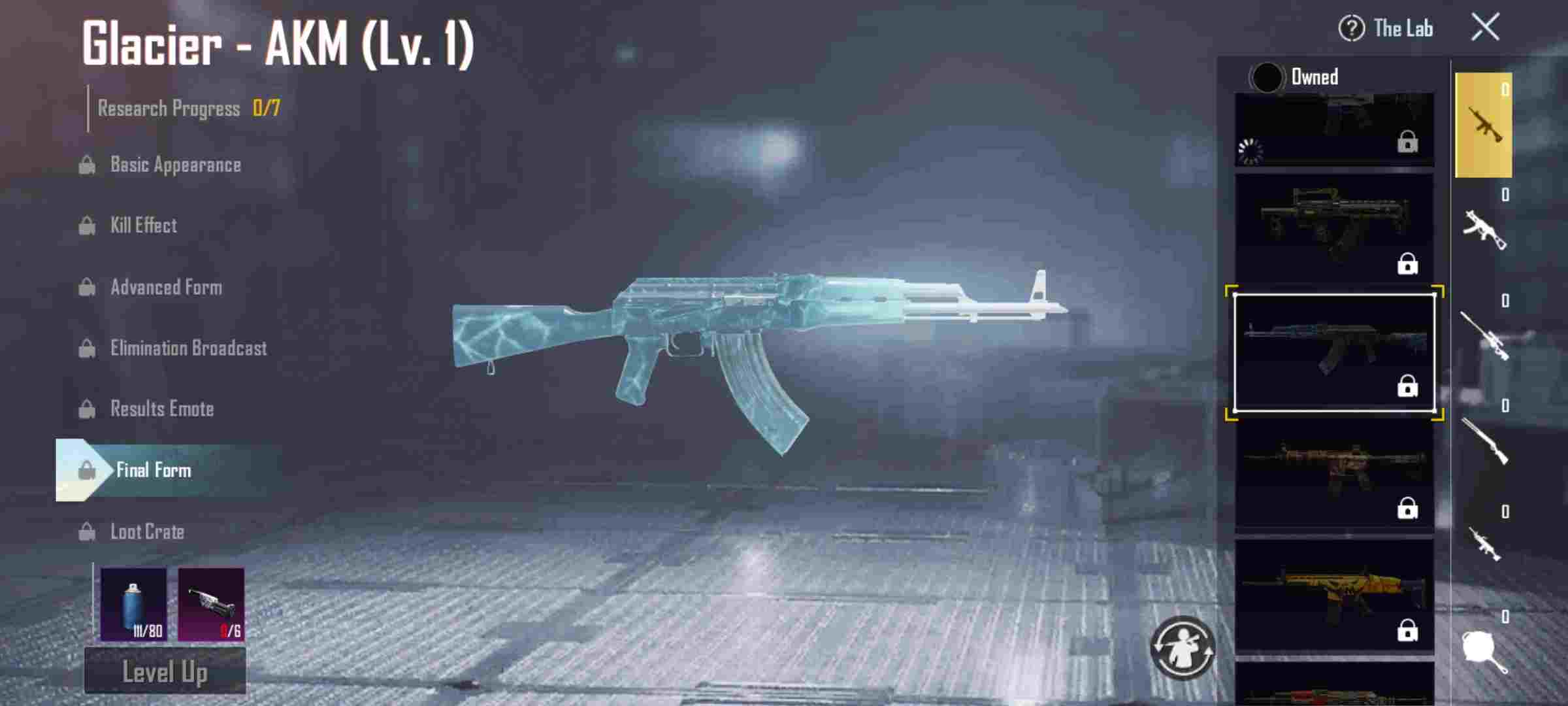 Top 10 Gun Skins in PUBG Mobile: Glacier – AKM