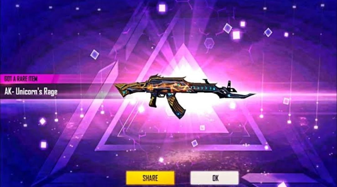 Unicorn's Rage AK Gun Skin