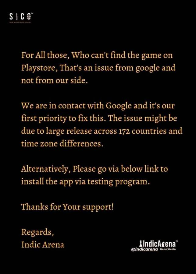SICO Mobile beta testing