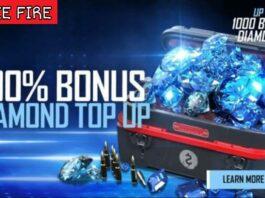 100% Top Up Bonus in Free Fire
