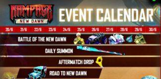 Free Fire Rampage 3.0 Event Calendar