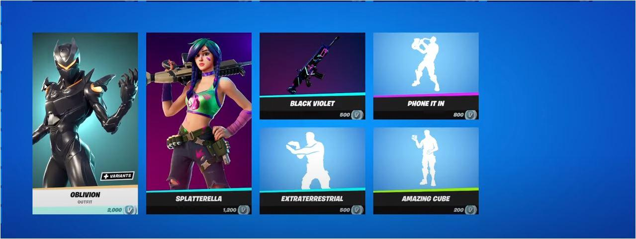 what is current fortnite item shop
