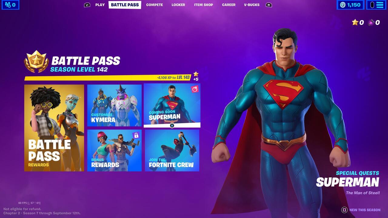 Fortnite New Season 7 Superman Skin