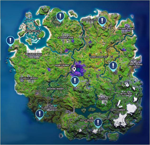 All Body Scanner locations in Fortnite
