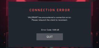 How to Fix Error Code 68 In Valorant