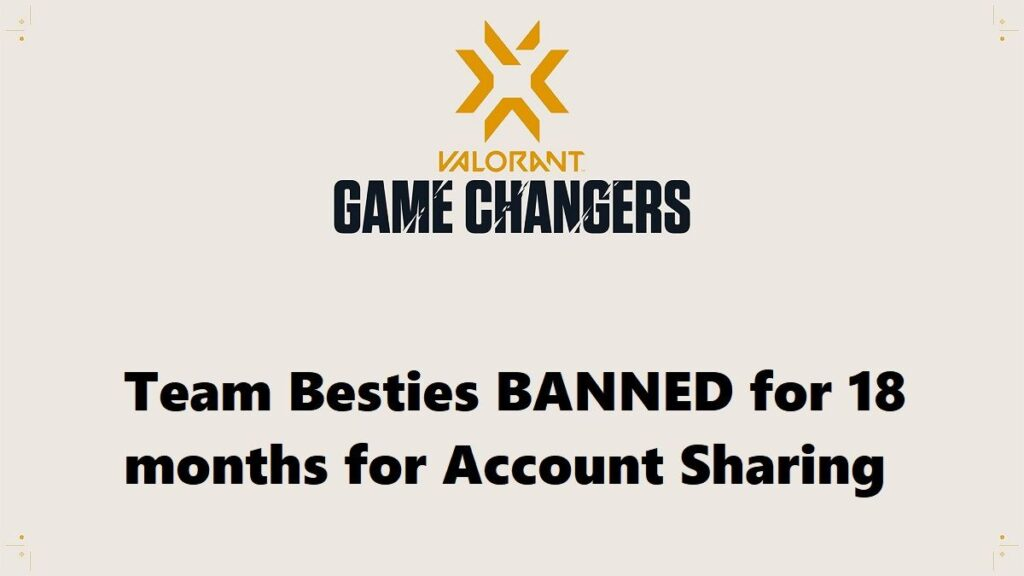 Team Besties Valorant: Banned for 18 Months