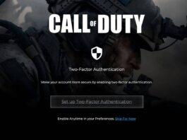 Call of Duty 2fa