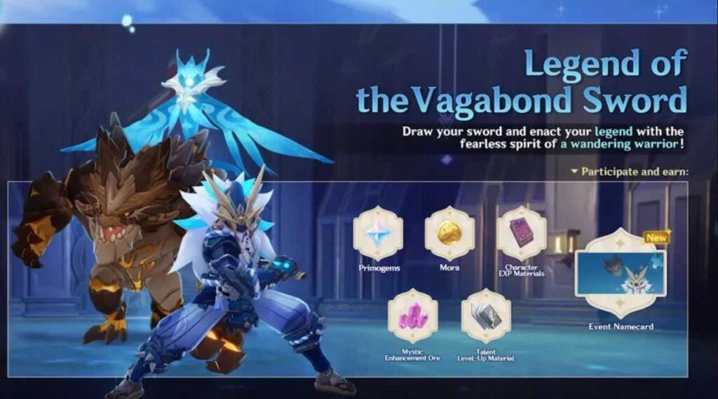 Legend Of The Vagabond Sword Event Genshin Impact