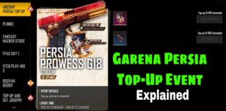 Free Fire Rewards - Free Fire Persia Top-Up Event