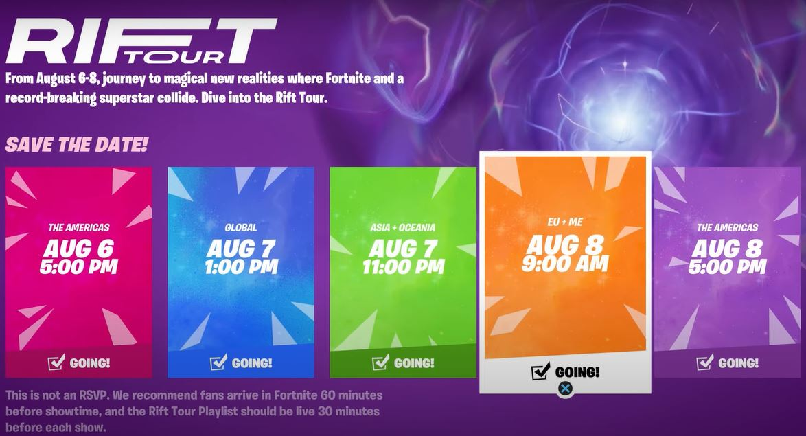 what is the rift tour in fortnite