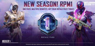 BGMI C1S1 Royale Pass - Free UC and Rewards